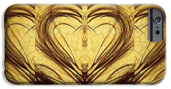 Miracle iPhone Cases - HIS Healing Heart iPhone Case by Marian Palucci