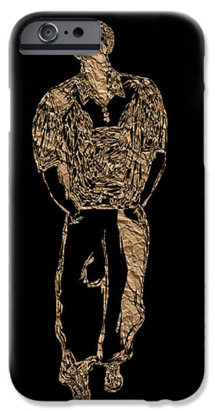 Angel Blues iPhone Cases - His Quiet Swagger PB iPhone Case by Valerie Christopher