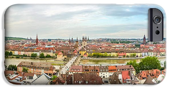 Historic Site iPhone Cases - Historic city of Wurzburg iPhone Case by JR Photography