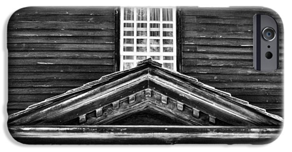 Facade iPhone Cases - Historic Deerfield Portico iPhone Case by Stuart Litoff