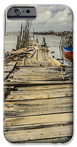 House iPhone Cases - Historic Fishing Pier In Portugal I iPhone Case by Marco Oliveira