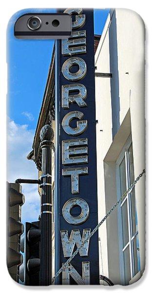 Cora Wandel iPhone Cases - Historic Georgetown Movie Theater Sign iPhone Case by Cora Wandel