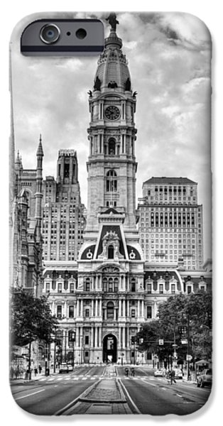 Downtown Franklin iPhone Cases - Historic Philly City Hall iPhone Case by JC Findley