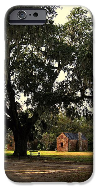 Historic Slave Houses at Boone Hall Plantation in SC iPhone Case by Susanne Van Hulst
