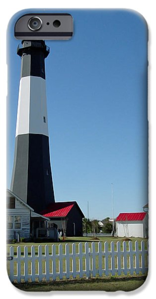 Tybee Island iPhone Cases - Historic Tybee Island Lighthouse I iPhone Case by Suzanne Gaff