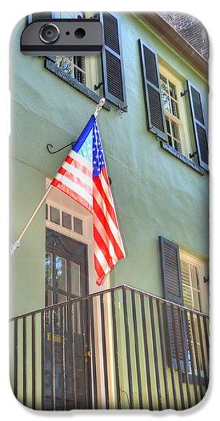 Patriotic Savannah iPhone Cases - Historical Patriot iPhone Case by Linda Covino