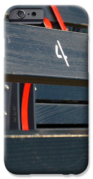 Historical Wood Seating at Boston Fenway Park iPhone Case by Juergen Roth
