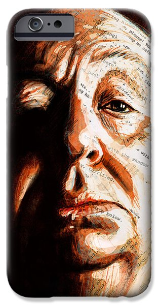 Horror Digital Art iPhone Cases - Hitchcock iPhone Case by Fay Helfer