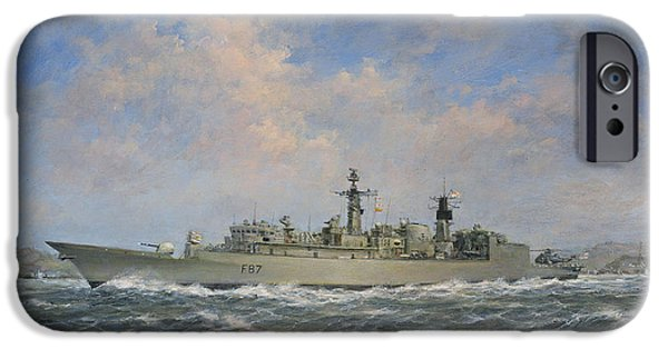 Boat iPhone Cases - HMS Chatham iPhone Case by Richard Willis