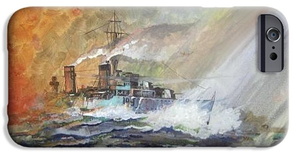 Beach iPhone Cases - HMS Duncan iPhone Case by Ray Agius