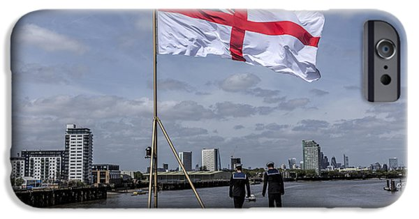 Flag iPhone Cases - HMS Ocean in Greenwich iPhone Case by Philip Pound