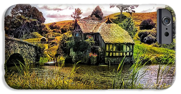 Village iPhone Cases - Hobbiton Mill and Bridge iPhone Case by Kathy Kelly