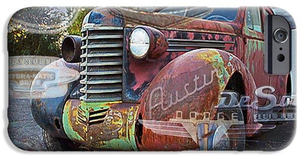 Austin Artist Digital Art iPhone Cases - Hodge Podge iPhone Case by David Kehrli