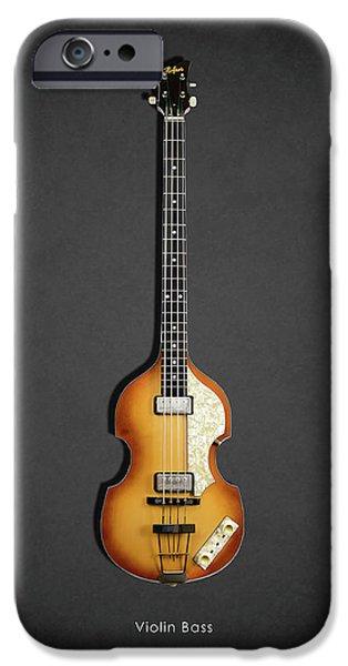 Hofner iPhone Cases - Hofner Violin Bass 62 iPhone Case by Mark Rogan