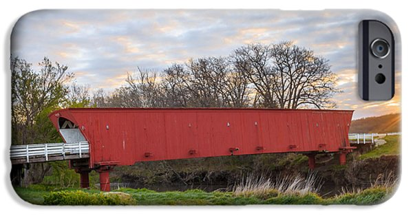 Recently Sold -  - Covered Bridge iPhone Cases - Hogback Covered Bridge #8403 iPhone Case by Jeffrey Henry