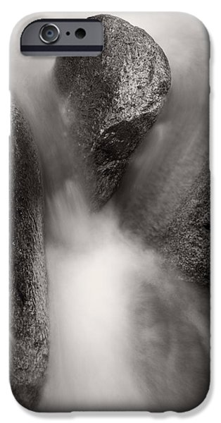Clear iPhone Cases - Hogback Creek And Granite Inyo Natl Forest BW iPhone Case by Steve Gadomski