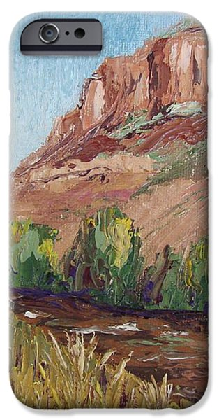 Hogback in early Fall at Watson Lake iPhone Case by Margaret Bobb