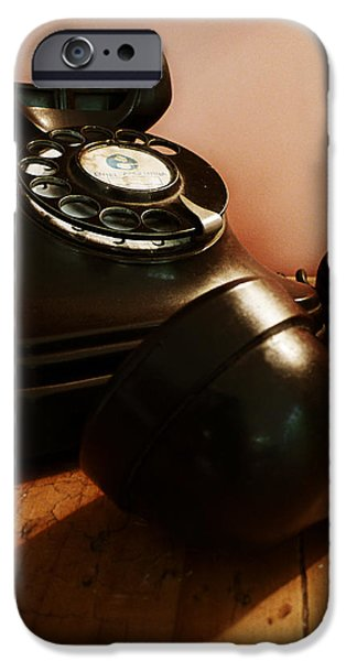Telephone iPhone Cases - Hold On iPhone Case by Osvaldo Hamer
