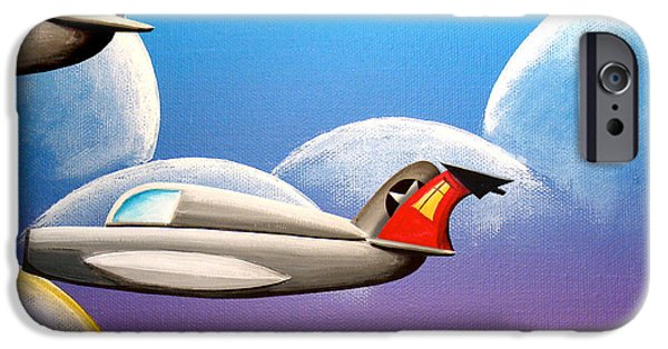 Flight Paintings iPhone Cases - Hold On Tight iPhone Case by Cindy Thornton