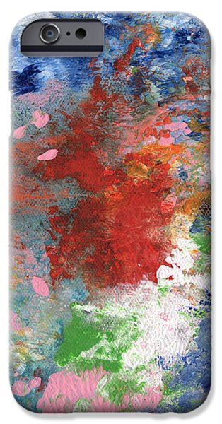 Corporate Art iPhone Cases - Holding On- Abstract Art by Linda Woods iPhone Case by Linda Woods
