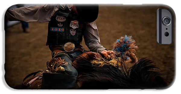 Horse iPhone Cases - Holding On iPhone Case by Steven Reed