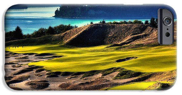 Us Open Photographs iPhone Cases - Hole #14 at Chambers Bay iPhone Case by David Patterson