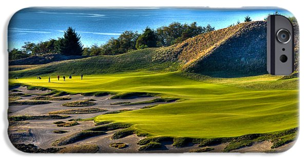 Us Open Photographs iPhone Cases - Hole #14 - Cape Fear - at Chambers Bay iPhone Case by David Patterson