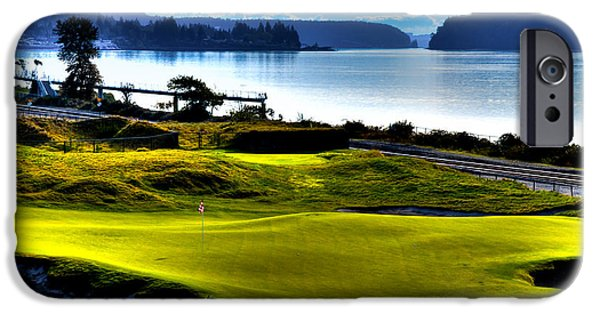 Us Open Photographs iPhone Cases - Hole #17 at Chambers Bay iPhone Case by David Patterson