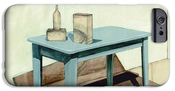 Furniture Drawings iPhone Cases - Hollow Still Life 2 iPhone Case by Adrienne Romine