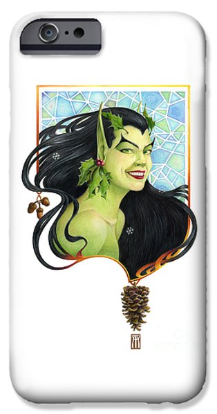Fantasy Mixed Media iPhone Cases - Holly Elf iPhone Case by Melissa A Benson