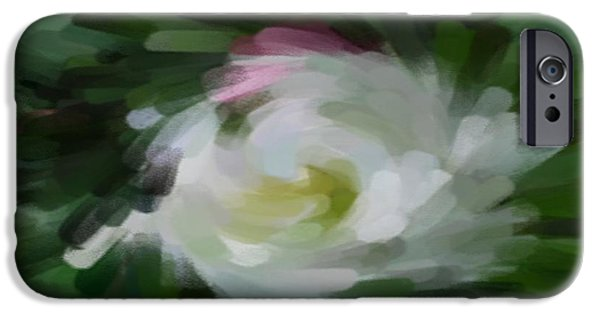 Abstract Digital iPhone Cases - Hollyhock x8 iPhone Case by Jacquie King