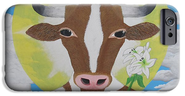 Holy Cow iPhone Cases - Holy Cow iPhone Case by Martin Ross
