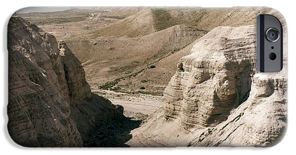 Ancient Scroll iPhone Cases - Holy Land: Qumran Caves iPhone Case by Granger