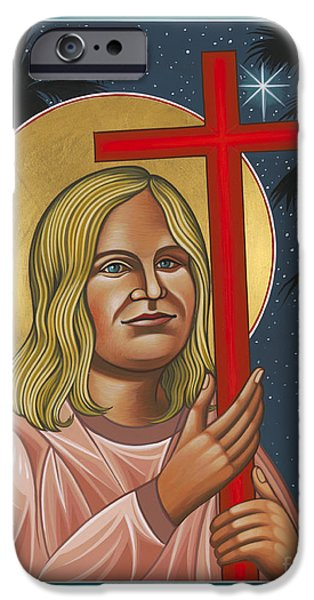 New Martyr iPhone Cases - Holy New Martyr Jean Donovan 155 iPhone Case by William Hart McNichols
