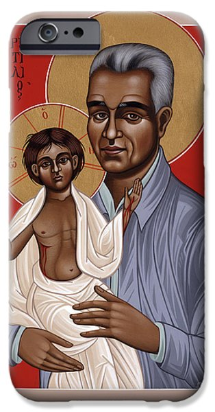 New Martyr iPhone Cases - Holy New Martyr Rutilio Grande 050 iPhone Case by William Hart McNichols