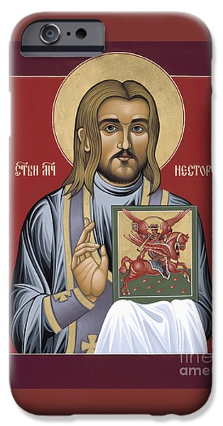 New Martyr iPhone Cases - Holy New Martyr St Nestor Savchuk 069 iPhone Case by William Hart McNichols