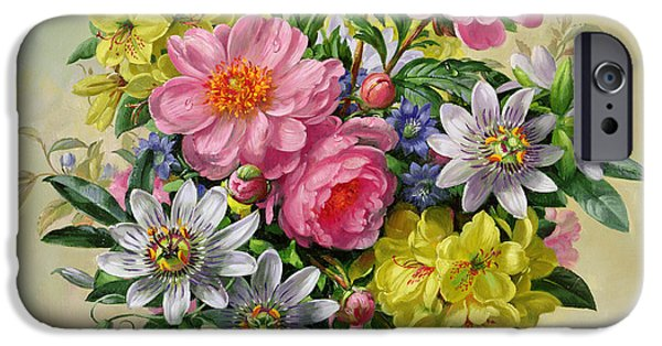 Passiflora iPhone Cases - Homage to Her Majesty The Queen Mother iPhone Case by Albert Williams