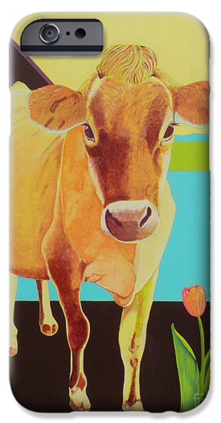 Nebraska Paintings iPhone Cases - Mabel iPhone Case by Christine Belt