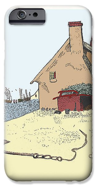 Home by the Sea iPhone Case by Donna Munro