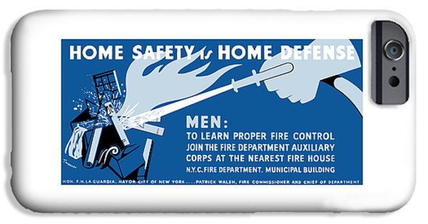 Home iPhone Cases - Home Safety Is Home Defense iPhone Case by War Is Hell Store