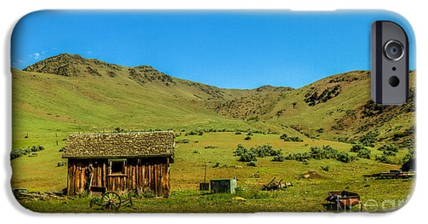 Drama iPhone Cases - Homestead On Squaw Butte iPhone Case by Robert Bales