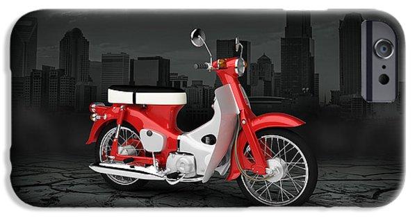 Honda iPhone Cases - Honda C50 Cub 1967 City iPhone Case by Aged Pixel