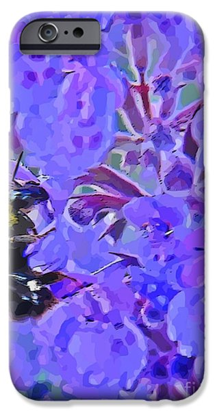 Abstract Expressionism iPhone Cases - Honey Bee iPhone Case by John Malone
