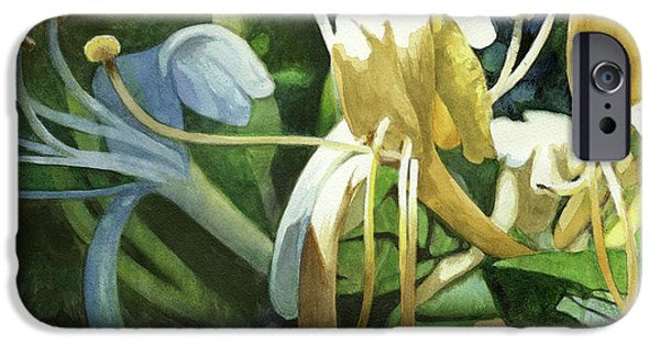 Botanical iPhone Cases - Honeysuckle Sun iPhone Case by Andrew King