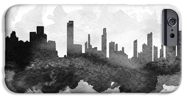iPhone Cases - Honolulu Cityscape 11 iPhone Case by Aged Pixel