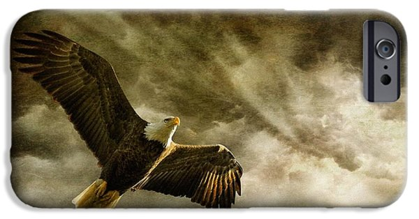 Sun Rays Digital Art iPhone Cases - Honor Bound iPhone Case by Lois Bryan