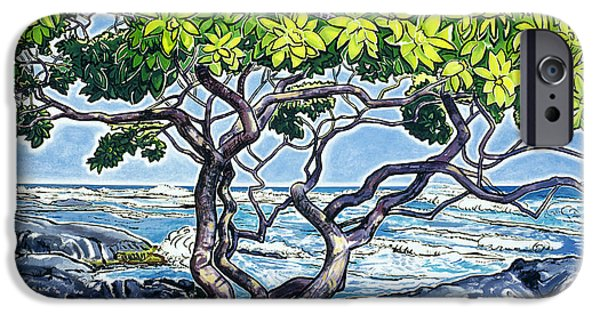 Art Medium iPhone Cases - Honuapo Heliotrope iPhone Case by Fay Biegun - Printscapes