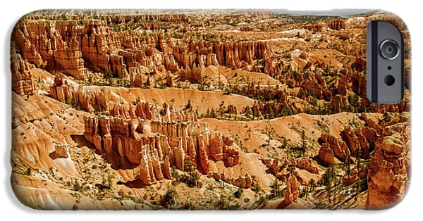 Haybale iPhone Cases - Hoodoos At Sunset Point iPhone Case by Robert Bales