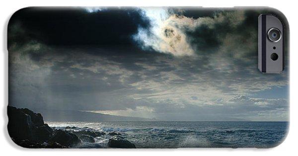 Dreamscape Digital Art iPhone Cases - Hookipa Waiola  O ka lewa i luna ua paaia he lani Maui Hawaii  iPhone Case by Sharon Mau