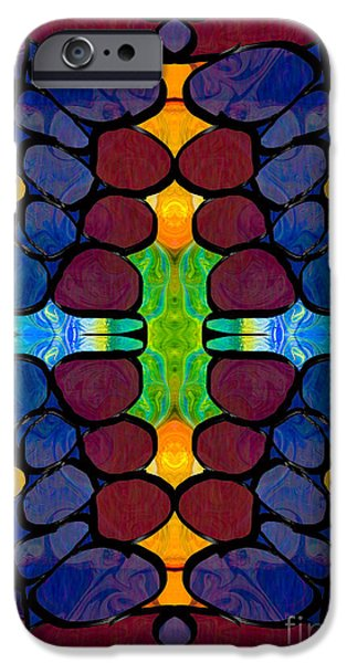 Recently Sold -  - Abstract Digital Mixed Media iPhone Cases - Hope Springs Eternal Abstract Creativity Artwork iPhone Case by Omaste Witkowski